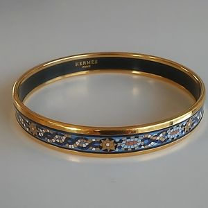 Hermes Mosaic Tile Bangle Bracelet